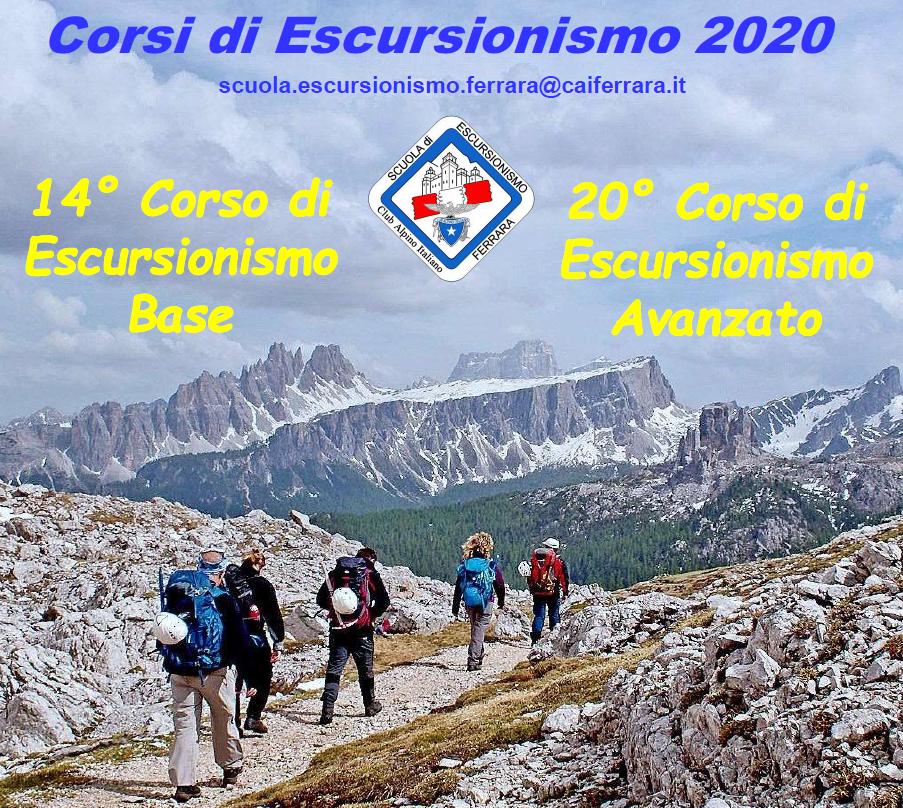 Corsi di Escursionismo (E1 – E2) – anno 2020
